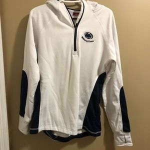 SOLD // White penn state 3/4 zip hoodie size L